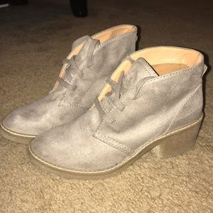 Size 8 Beige Suede Ankle Boots